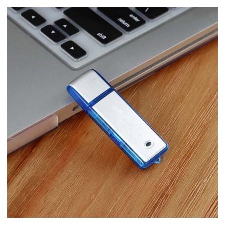 Micro enregistreur audio clé USB 20h d'autonomie