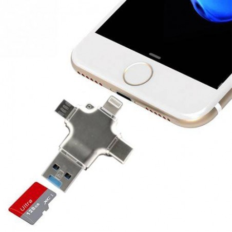 Lecteur carte Micro SD pour Smartphone iPhone Android