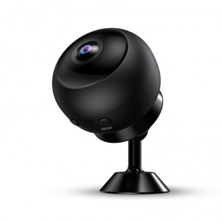 Caméra grand angle WIFI accessible à distance Full HD avec vision nocturne et détection de mouvement