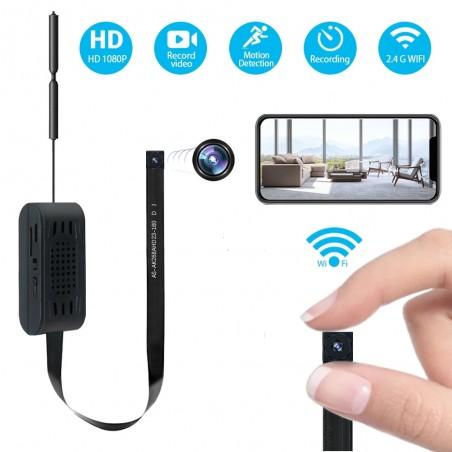 Mini caméra espion WIFI avec batterie intégrée accessible à distance