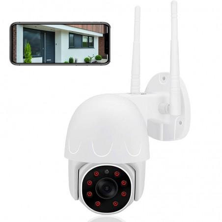 Caméra de surveillance PTZ extérieur Full HD WIFI accessible à distance vision nocturne
