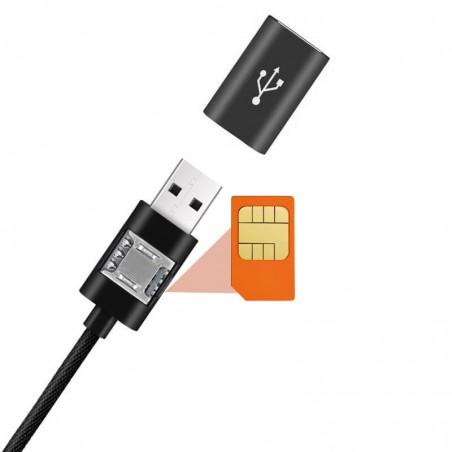 Cable GSM écoute à distance et localisation de la position